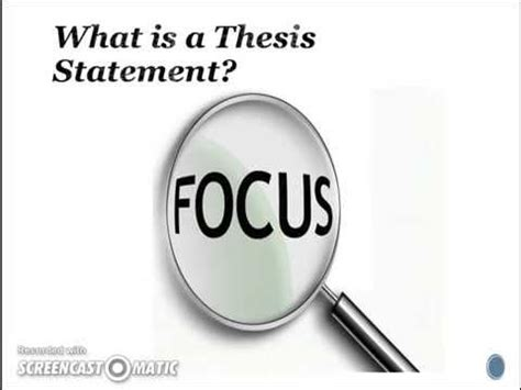 Creating and Using Thesis Statements - Quiz Flashcards